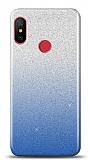 Xiaomi Mi Mix 3 Simli Mavi Silikon Kılıf