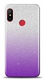 Xiaomi Mi Mix 3 Simli Mor Silikon Kılıf