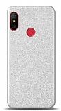 Xiaomi Mi Mix 3 Simli Silver Silikon Kılıf