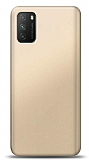 Xiaomi Poco M3 Gold Mat Silikon Kılıf