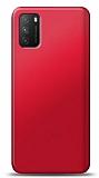 Xiaomi Poco M3 Kırmızı Mat Silikon Kılıf