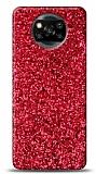 Xiaomi Poco X3 Pullu Kırmızı Silikon Kılıf