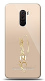 Xiaomi Pocophone F1 Gold Atatürk İmza Kılıf