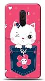 Xiaomi Pocophone F1 Pink Cat Kılıf