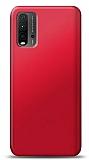 Xiaomi Redmi 9T Kırmızı Mat Silikon Kılıf