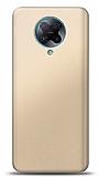 Xiaomi Redmi K30 Pro Gold Mat Silikon Kılıf