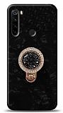 Xiaomi Redmi Note 8 Mozaik Yüzüklü Siyah Silikon Kılıf