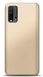 Xiaomi Redmi Note 9 4G Gold Mat Silikon Kılıf