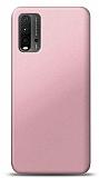 Xiaomi Redmi Note 9 4G Rose Gold Mat Silikon Kılıf