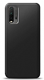 Xiaomi Redmi Note 9 4G Siyah Mat Silikon Kılıf