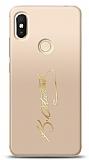 Xiaomi Redmi S2 Gold Atatürk İmza Kılıf