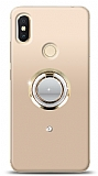 Xiaomi Redmi S2 Gold Tutuculu Taşlı Şeffaf Kılıf