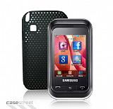 Samsung C3303 Champ Siyah Delikli K�l�f