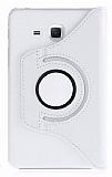 Samsung Galaxy A 7.0 2016 Derece Döner Standlı Beyaz Deri Kılıf