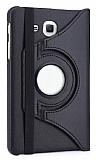 Samsung Galaxy A 7.0 2016 Derece Döner Standlı Siyah Deri Kılıf