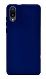 Samsung Galaxy A02 Lacivert Silikon Kılıf
