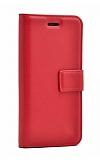 Samsung Galaxy A21s Cüzdanlı Kapaklı Kırmızı Deri Kılıf