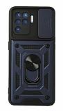 Eiroo Magnet Lens Samsung Galaxy A12 / M12 Ultra Koruma Lacivert Kılıf