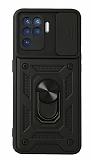 Eiroo Magnet Lens Samsung Galaxy A12 / M12 Ultra Koruma Siyah Kılıf