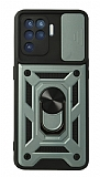 Eiroo Magnet Lens Samsung Galaxy A12 / M12 Ultra Koruma Yeşil Kılıf
