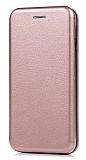 Samsung Galaxy A2 Core Curve Manyetik Kapaklı Rose Gold Deri Kılıf