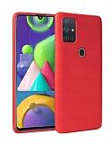 Samsung Galaxy A21s Kırmızı Mat Silikon Kılıf