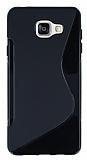 Samsung Galaxy A3 2016 Desenli Siyah Silikon Kılıf