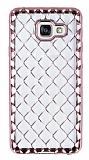 Samsung Galaxy A3 2016 Diamond Rose Gold Kenarlı Şeffaf Silikon Kılıf