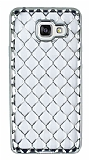 Samsung Galaxy A3 2016 Diamond Silver Kenarlı Şeffaf Silikon Kılıf