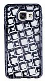 Samsung Galaxy A3 2016 Kare Desenli Siyah Silikon K�l�f