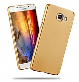 Samsung Galaxy A3 2016 Tam Kenar Koruma Gold Rubber Kılıf