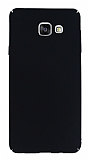 Samsung Galaxy A3 2016 Tam Kenar Koruma Siyah Rubber Kılıf