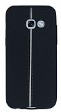 Samsung Galaxy A3 2017 Kadife Dokulu Siyah Silikon Kılıf