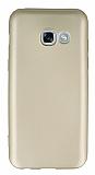 Samsung Galaxy A3 2017 Mat Gold Silikon Kılıf