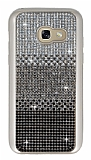 Samsung Galaxy A3 2017 Taşlı Geçişli Siyah Silikon Kılıf