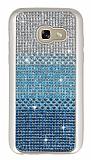 Samsung Galaxy A3 2017 Taşlı Geçişli Mavi Silikon Kılıf