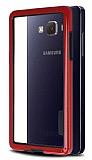 Samsung Galaxy A3 Silikon Bumper Çerçeve Kırmızı Kılıf
