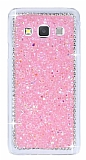Samsung Galaxy A3 Taşlı Pembe Rubber Kılıf