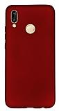 Samsung Galaxy A20 / A30 Mat Kırmızı Silikon Kılıf