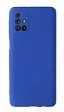 Samsung Galaxy M31s Kamera Korumalı Lacivert Silikon Kılıf