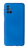 Samsung Galaxy M31s Kamera Korumalı Mavi Silikon Kılıf