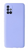 Samsung Galaxy M31s Kamera Korumalı Lila Silikon Kılıf