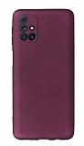 Samsung Galaxy M31s Kamera Korumalı Mürdüm Silikon Kılıf