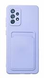 Samsung Galaxy A52 / A52 5G Kartlıklı Kamera Korumalı Mor Kılıf