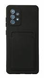 Samsung Galaxy A52 / A52 5G Kartlıklı Kamera Korumalı Siyah Kılıf