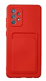 Samsung Galaxy A52 / A52 5G Kartlıklı Kamera Korumalı Kırmızı Kılıf