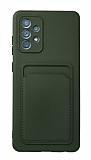 Samsung Galaxy A52 / A52 5G Kartlıklı Kamera Korumalı Yeşil Kılıf