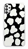 Samsung Galaxy A52 / A52 5G İnek Desenli Beyaz Kenarlı Silikon Kılıf