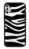 Samsung Galaxy A52 / A52 5G Zebra Desenli Siyah Kenarlı Silikon Kılıf