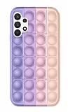 Samsung Galaxy A52 / A52 5G Push Pop Bubble Mor Silikon Kılıf